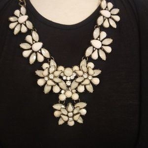 Jewelry - White Crystal Large Statement Necklace